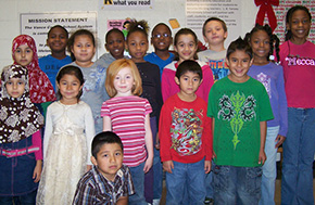 Students at L. B. Yancey Elementary,