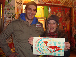 Karyn Neubauer with Artist Dario Malatesta