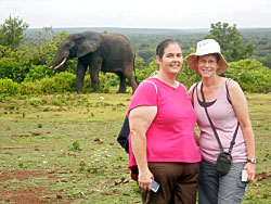 Nicole Buschmann and Maribeth Dann in Ghana