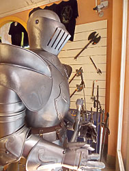 Knight's suit near the Guinigi Tower, Lucca, Italy